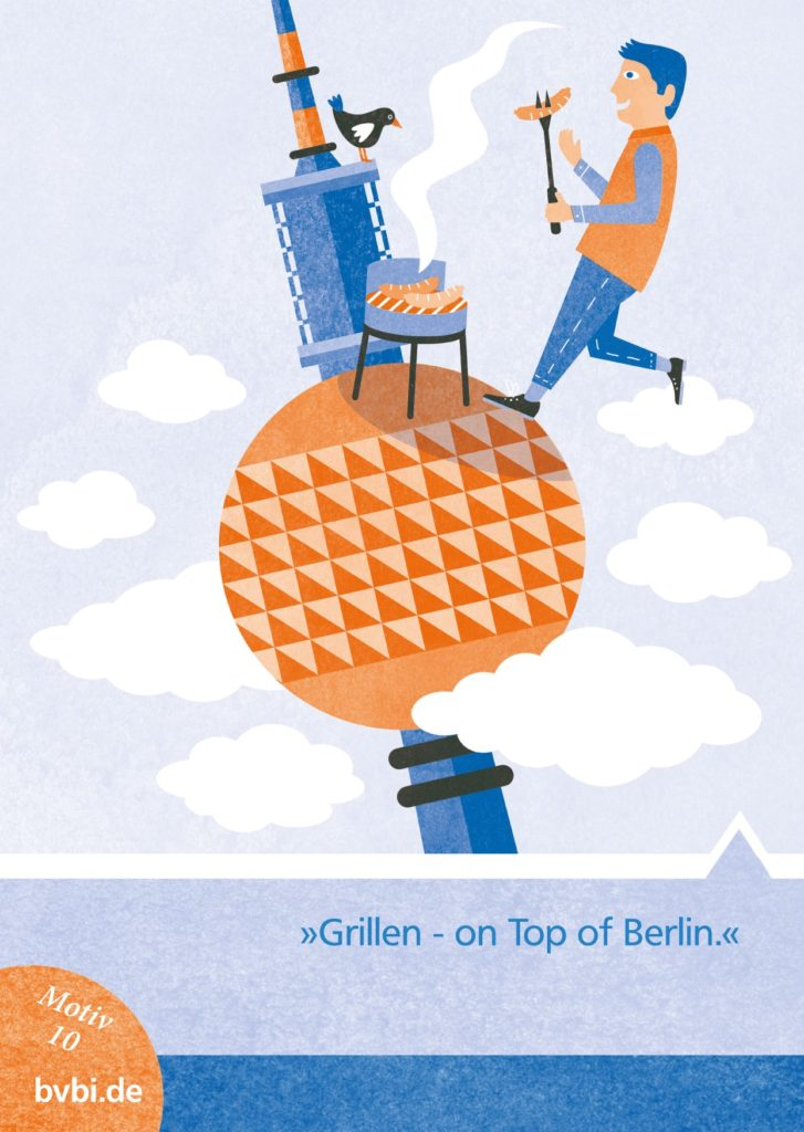 BVBI-Postkarte Motiv 10: »Grillen - on Top of Berlin«