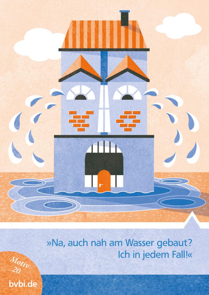 BVBI-Postkarte Motiv 20: »Na, auch nah am Wasser gebaut? Ich in jedem Fall!«